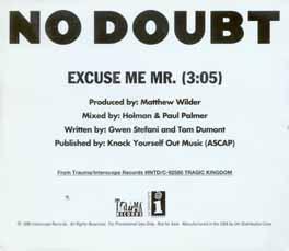 No doubt excuse me lyrics